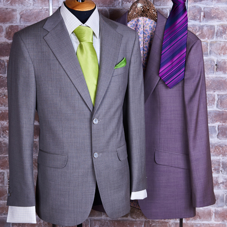 suit: Elegant business suit with a shirt and a tie Stock Photo