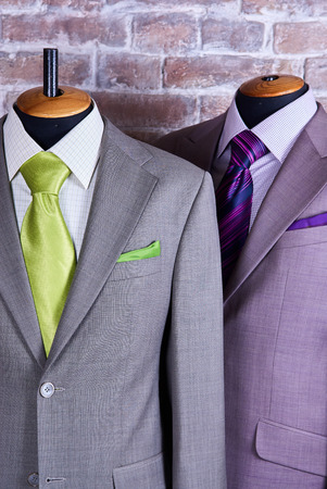 tie necktie: Elegant business suit with a shirt and a tie Stock Photo