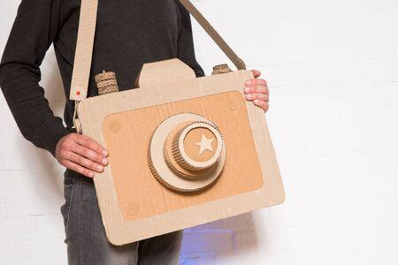 birthday present: The man with a handmade cardboard camera