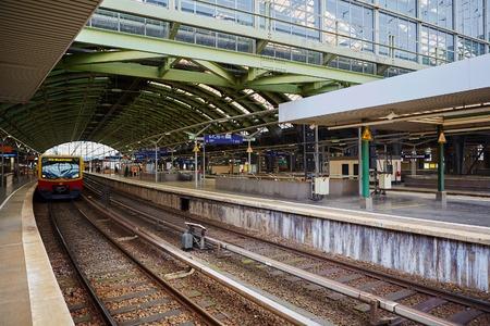 mainline: Berlin, Germany - November 16, 2015: Berlin East railway station is a mainline railway station in Berlin. Editorial