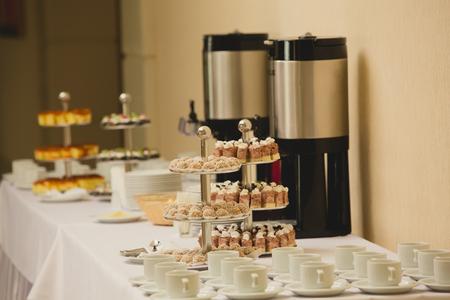 会議でのコーヒー ブレーク。 ビジネスと起業家精神。