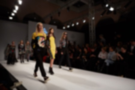 Fashion runway out of focus. The blur background Stock fotó