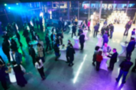sociability: Abstract blurred people in party, sociability lifestyle concept