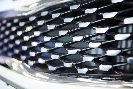 grid texture: Black iron speaker grid texture. Industrial background. Stock Photo
