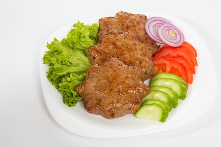 cutlets: Homemade meat cutlets, delicious baked pork cutlets in crispy breading