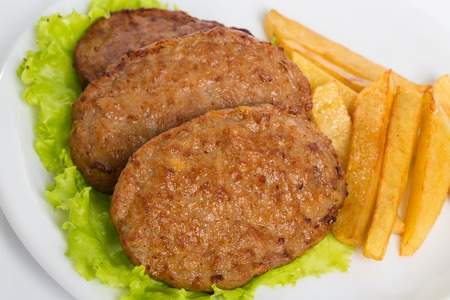 breading: Homemade meat cutlets, delicious baked pork cutlets in crispy breading