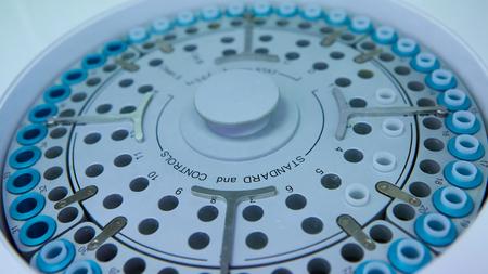 centrifuge: the centrifuge for separation of plasma. Shallow dof