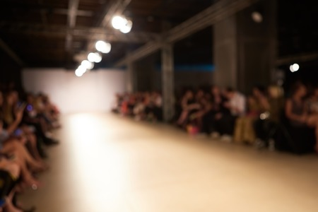 runway fashion: Fashion runway out of focus. The blur background Stock Photo