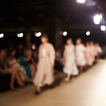 fashion runway: Fashion runway out of focus. The blur background.