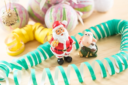 Christmas and New Year decoration. Selective focus. Creative background