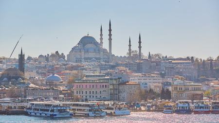 The Suleymaniye Mosque is an Ottoman imperial mosque in Istanbul, Turkey. It is the largest mosque in the city. Editorial