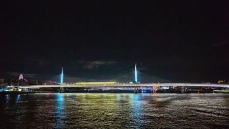 The Golden Horn Metro Bridge or Halic Metro Koprusu in Istanbul, Turkey.