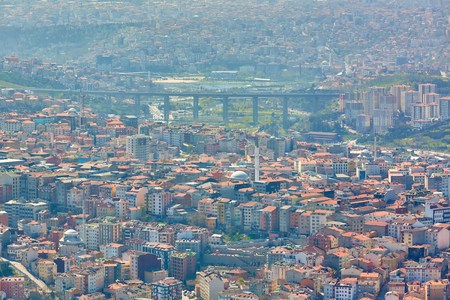 Urban landscape of European side of Istanbul. Stock Photo