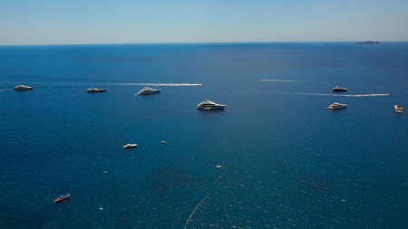 Yachting on the Mediteranean Sea, Capri Island, Europe.
