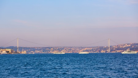 Bosphorus Bridge. 15th July Martyrs Bridge. 15 Temmuz Sehitler Koprusu. Stock Photo