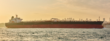 Logistics and transportation of International Container Cargo ship. Freight Transportation, Shipping.