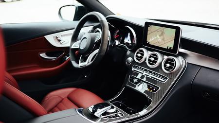 Intérieur de voiture de luxe
