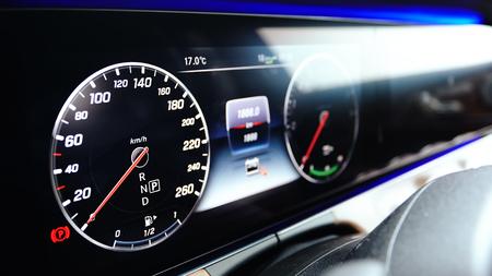 Luxury car dashboard