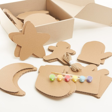 diy christmas decorations from cardboard paper homemade christmas ornament from reused paper craft ideas - Cardboard Christmas Decorations