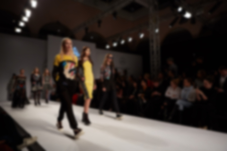 Fashion runway out of focus. The blur background.