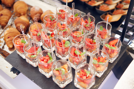 The catering wedding buffet for events. Shallow dof