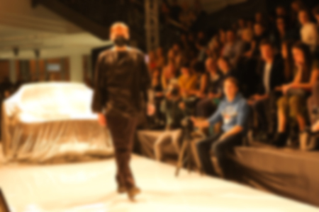 Fashion runway out of focus. The blur background Banco de Imagens
