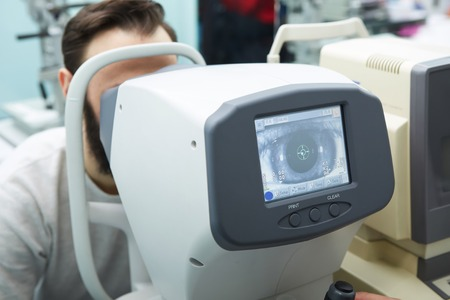 Modern ophthalmology clinic. Tools for checking the eye vision and eye health. Foto de archivo