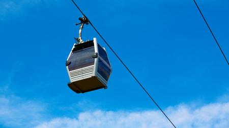 Cable car between coast and Montjuic hill, Barcelona, Spain Reklamní fotografie