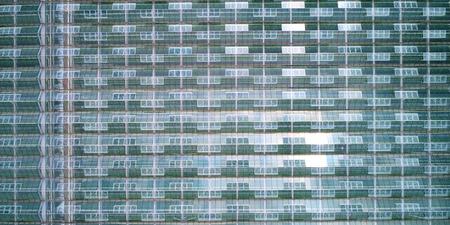Photo aérienne de serres prise d'en haut. Banque d'images