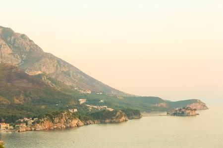 The landscape Adriatic coast of Bar, Montenegro.