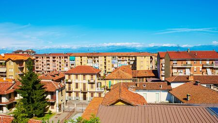 View of the town of Fossano, Piemont, Italy.