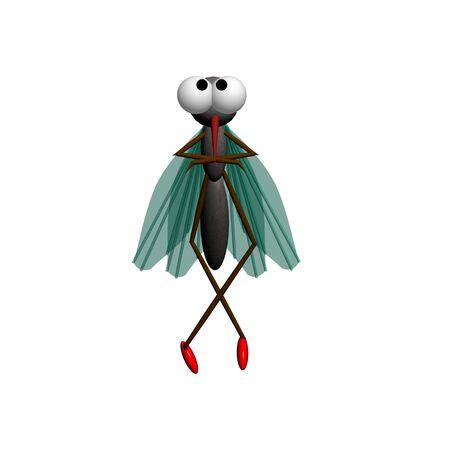 Mosquito. 3D image. photo