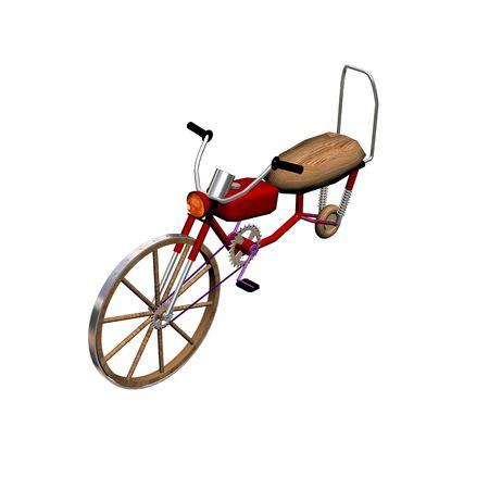 speedmeter: Unusual motorcycle. 3D image.
