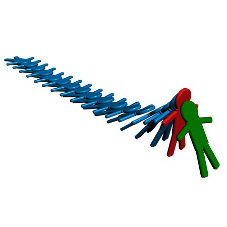 Conceptual image of teamwork. 3D image. Stock Photo - 2634832