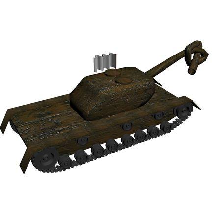 technics: harmless tank. 3D image.