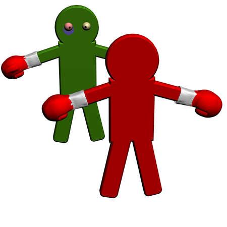 Conceptual image of teamwork - 7. 3D image. Stock Photo - 2704505