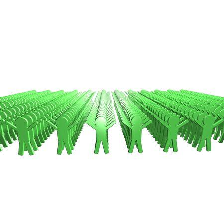 Conceptual image of teamwork - 5. 3D image. Stock Photo - 2704516
