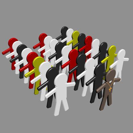 Conceptual image of teamwork - 2. 3D image. Stock Photo - 2704510