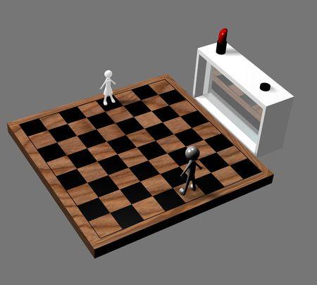 acquaintance: Way to acquaintance, on a grey background. 3D image.
