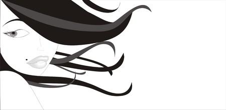 donna: bella ragazza ragazzi al vento