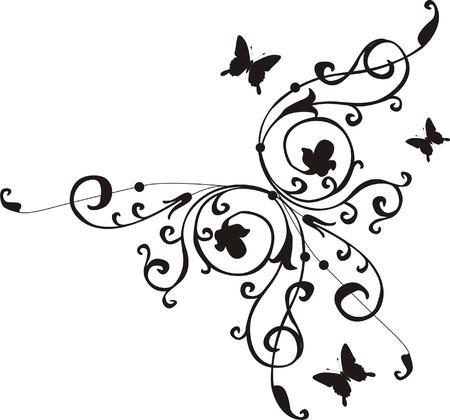 cornice: illustrazione floreale astratta