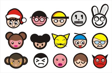 felice: cartoon icons