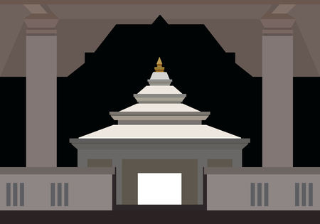 wat thai vector in thailand Illustration