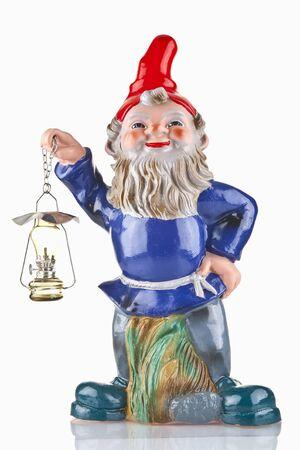 gnome: Garden gnome isolated Stock Photo