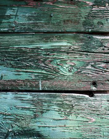 worn: Rustic wooden door texture worn off paint Stock Photo
