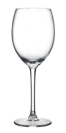 A empty wine glass isolated on a white background