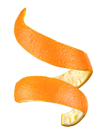 naranja: piel de naranja aislada