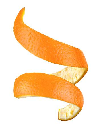 sinaasappelschil geïsoleerde Stockfoto