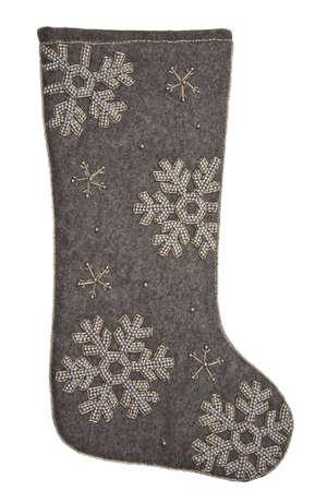 christmas sock: Christmas sock  gray Stock Photo