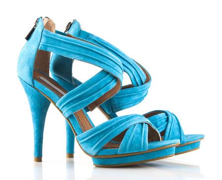 female soles: Pair of brand new high heels Stock Photo